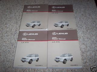 2006 Lexus LX 470 LX470 Repair Service Manual Set
