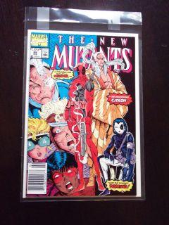 New Mutants 98 1st app Deadpool Gideon Domino NM High Grade Liefeld
