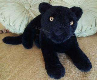 Plush Leopard Realistic Black Puma Cat Stuffed Animal Toy Gift