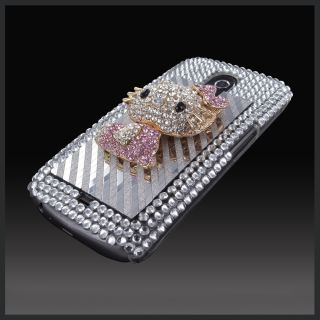 Cellxpressions™ 3D Gold Hello Kitty Bling Case Cover Samsung Galaxy