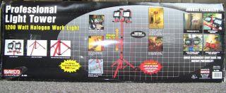 Watt Double Head Halogen Portable Work Shop Stand Light Fixture