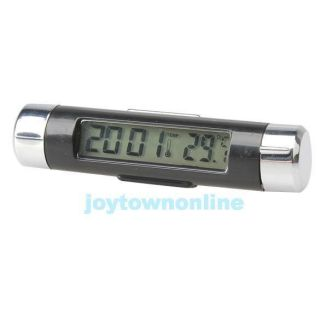 Sport Car Thermometer Portable Light Digital Automotive Clock