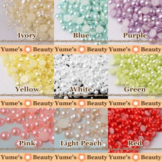 Colors J Half Pearl Round Flatback Scrapbook Nail Art Craft