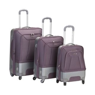 Expandable Lightweight Spinner 3 Piece Luggage Set Lavender