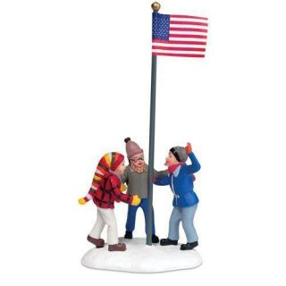 Dept 56 Christmas Story Triple Dog Dare Flagpole NEW in Box UNITED