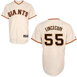 Tim Lincecum San Francisco Giants Majestic Replica Jersey Any Size