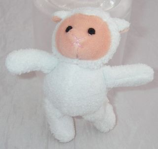 Lillian Vernon Plush White Lamb Sheep Mini 4 Tall