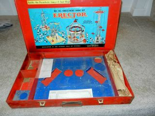 Gilbert Erector 10 1 2 Amusement Park Set Box 1950s Vintage Original