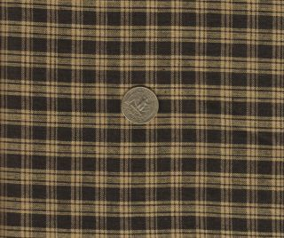 Black and Tan Homespun Quilting Fabric 100 Cotton Sold by The 1 2 Yard