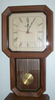 The Linden wall clock is a handsome, functional addition to your home.