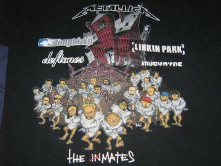 2003 Metallica Limp Bizkit Linkin Park Concert Shirt L