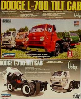 Lindberg 1969 Dodge L 700 Tilt Cab Model Kit 1 24
