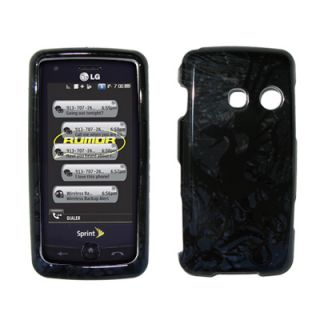 For LG Rumor Touch Hard Case Cover Black Dragon TL