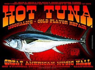 Nice Mint Hot Tuna San Francisco Concert Poster