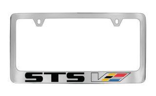 STS V Chrome Plated Brass Metal License Plate Frame Holder