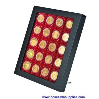 Lindner Matte Black Display Coin Box Fram Attractive