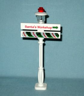 Lego Christmas Lamp Post Street Light Santa Sign City