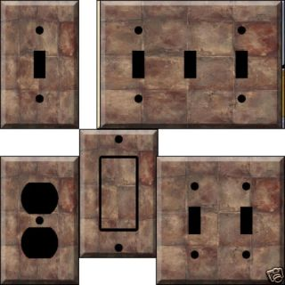 Rustic Tiles Light Switch Plate Cover Switchplate