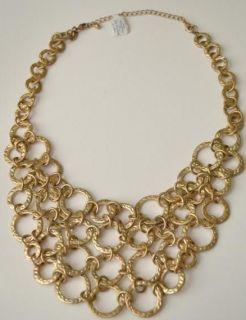 Beautiful Lia Sophia Kiam Family Lisa Necklace Goldtone RV $198 New