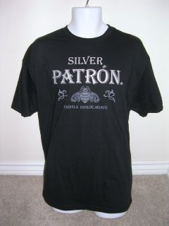 New Mens Patron Tequila Black XXL T Shirt Tee Bar Bartender Official