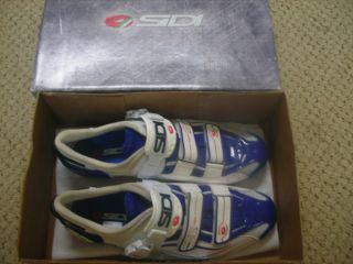 Sidi Genius 6.6 Lite Blue/ White size 47 Road Cycling Shoes Carbon