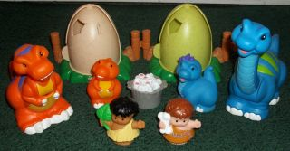 Fisher Price Little People Cave Man Dinosaurs Playset Egg Cave Babies