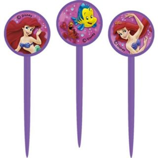 Disney Little Mermaid Ariel Cupcake Picks Cake Toppers Party Supplies