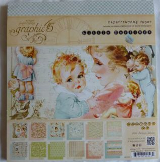 Graphic 45 Little Darlings 8 x 8 Scrapbook Paper Pad 24 Sheets, 12
