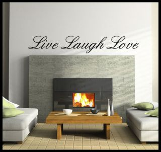 Live Laugh Love Wall Decor Decoration Decal Sticker Various Sizes