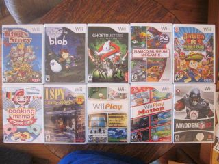 Wii 10 Game Lot Little Kings Story Ghostbusters A Boy and his Blob
