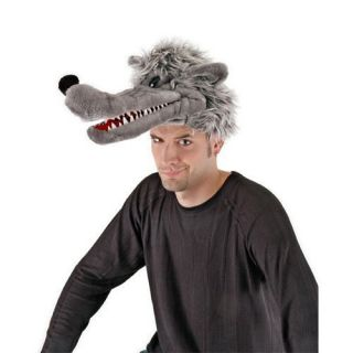 BIG BAD WOLF HAT LITTLE RED RIDING HOOD BIG BAD WOLF ADULT COSTUME HAT