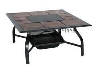 LIVING ACCENTS TCS46JK G01 BLACK SAN JOSE FIRE PIT TABLE OUTDOOR PATIO