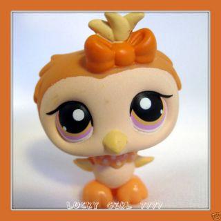 Littlest Pet Shop Halloween Burnt Orange Owl 431 $2SIP
