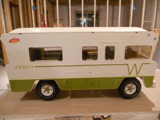 Vtg 23 inch 1970s Tonka Toy Indian Winnebago RV motorhome Camper