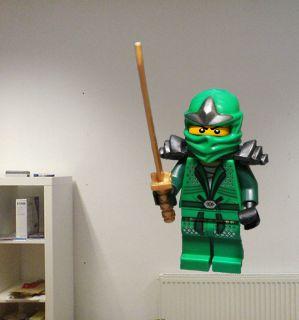 Lego Ninjago Lloyd Green Ninja Hand Crafted Wall Decal