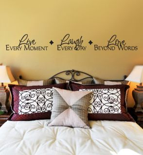 Live Laugh Love Beyond Words Vinyl Wall Decal Large