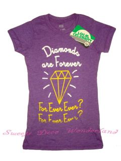 Local Celebrity Diamonds Are Forever Tee T Shirt BNWT