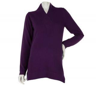 Liz Claiborne New York Cotton Cashmere Crossover Amethyst Purple L NEW