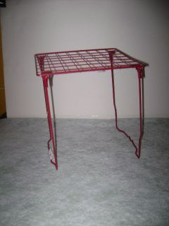 RED WIRE School LOCKER RACK Book SHELF Home Organizer End Table Stand