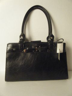 Womens Ladies Black Handbag Purse by Liz Claiborne New with Tag $60