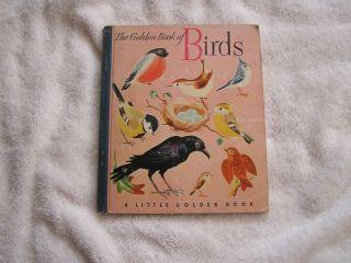 Little Golden Book of Birds Lockwood 1945 3rd Printing
