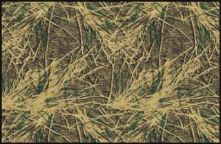 Mossy Oak Shadow Grass Camo Rustic Hunting Lodge Cabin Accent Area Rug