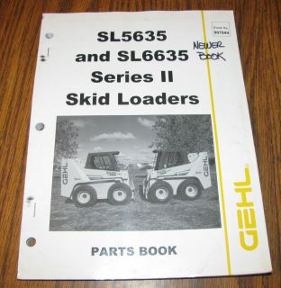 Gehl SL5636 SL6635 Series II Skid Loader Parts Catalog Manual
