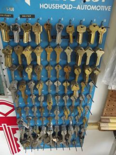 Key Rack w Keys Cylinder Auto Keys Locksmith or Key Shop SPECIAL SALE