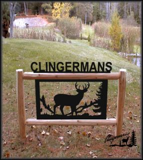 Clingermans Outdoor Signs Rustic Log Decor Signs Wildlife Art