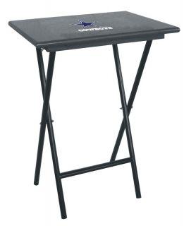 Dallas Cowboys Team Logo TV Tray Table Set 4 w Rack