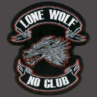 Lone Wolf Embroidered Biker Patch 4 inch Patch