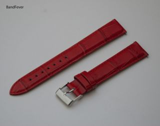 18mm EXTRA LONG RED WATCH BAND STRAP FITS MICHELE INVICTA TIMEX 8