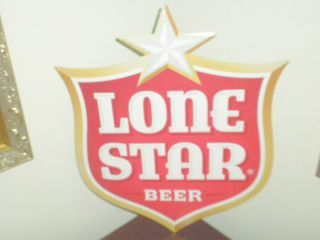Lone Star Beer Tin Wall Sign