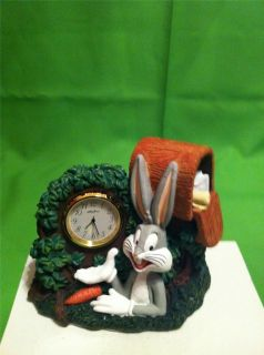 1995 Looney Tunes 3 D Ceramic Collectible Figurine Clock By Westclox